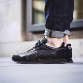Кроссовки Onitsuka Tiger Dualio Black Leather D6L1L-9090