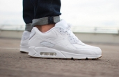 Кроссовки Nike Air Max 90 Leather White 705012-111