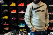 Толстовка  Nike Crew Sweat WRESTLING Grey 823106-063W